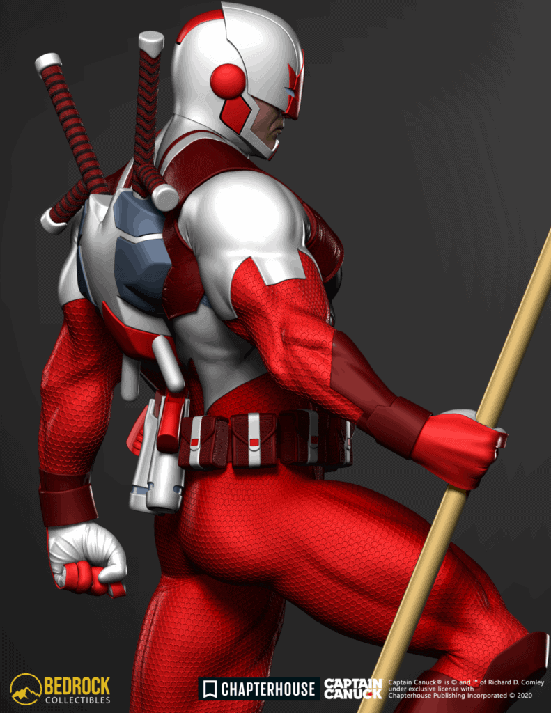 captain canuck statue render side