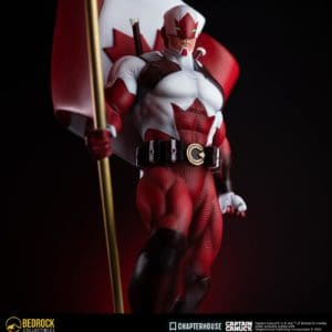 captain canuck statue 3 quarter closeup polystone