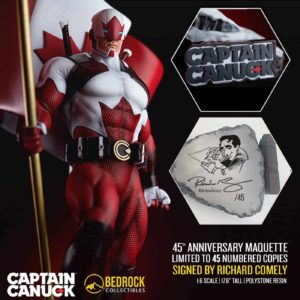 captain canuck anniversary edition statue
