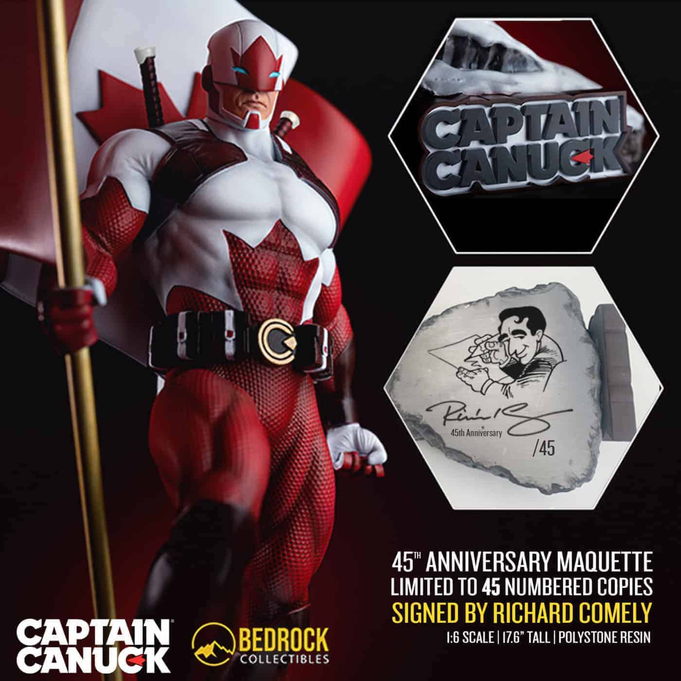 captain canuck anniversary edition statue