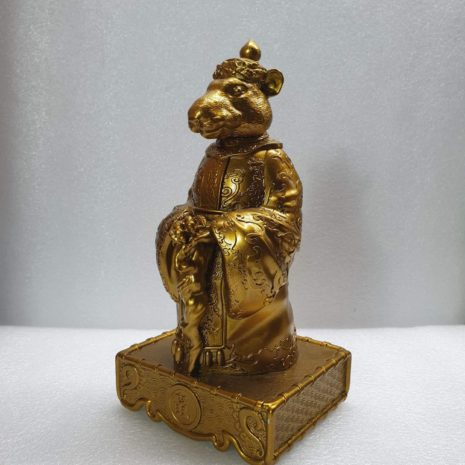 golden rat zodiac statue_8