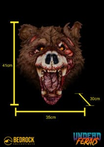 zombie bear measurements and dimensions