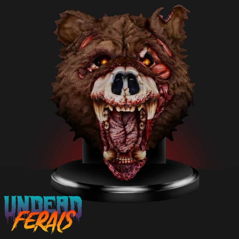 Announcing the 1:1 Life Size Zombie Bear Bust