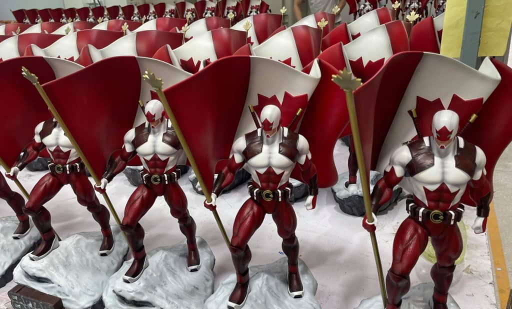 Painted Statue of Captain Canuck polystone 1/6 scale collectible statue